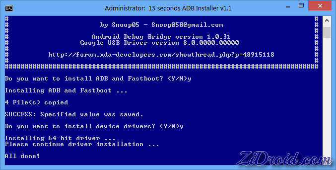 How to Install ADB, Fastboot and Drivers in Few Seconds