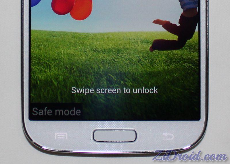 Galaxy S4 Safe Mode