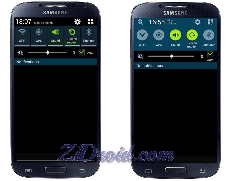 Galaxy S5 Status Bar for Galaxy S4