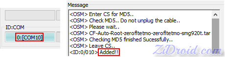 IDCOM and Added Message Odin3