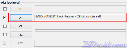 SM- G925T Stock Recovery