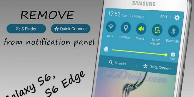 Galaxy S6s6 Edge How To Remove S Finder Quick Connect Buttons