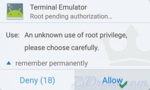 Terminal Kinguser Permissão
