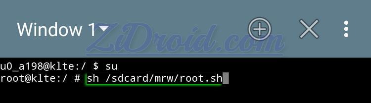sdcard mrw root.sh