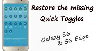 Restore the Missing Quick Toggles