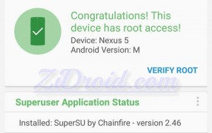 Root Checker Nexus 5 Android M