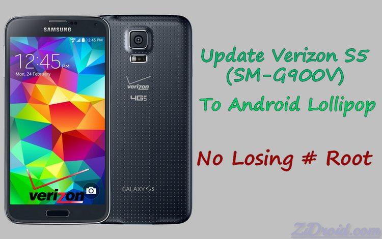 Keep Root Verizon Galaxy S5 OE1