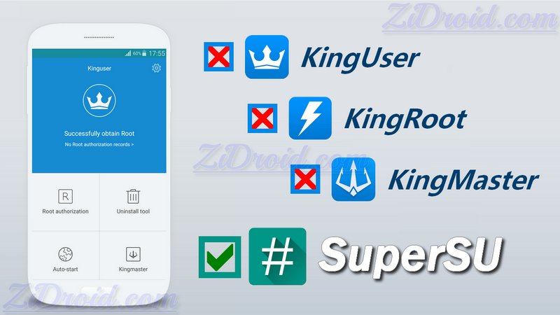 How to Get Ride and Replace Kinguser with SuperSU App – ZiDroid