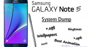 Galaxy Note 5 System Dump