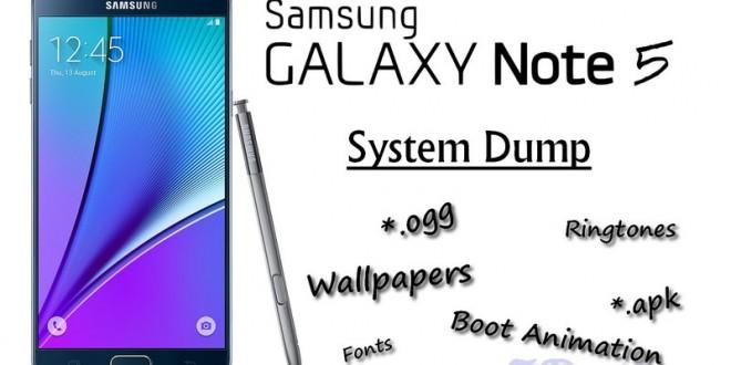 Download Samsung Galaxy Note 5 N920CXXU1AOH2 System Dump